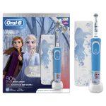 Oral-B D100 Vitality Frozen Gyermek Elektromos fogkefe + Ajándék útitok