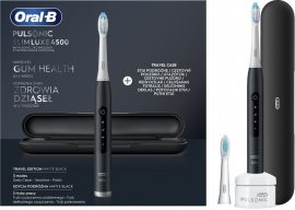 Oral-B Pulsonic Slim Luxe 4500 Matte fekete szónikus fogkefe + útitok